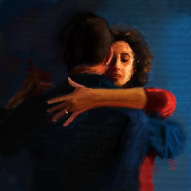 offrir un tableau : couple qui danse